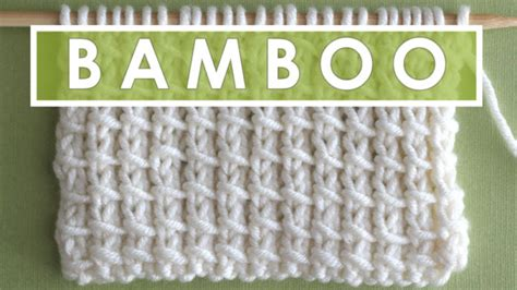 knitting tutorial website how to knit the bamboo stitch pattern with video tutorial