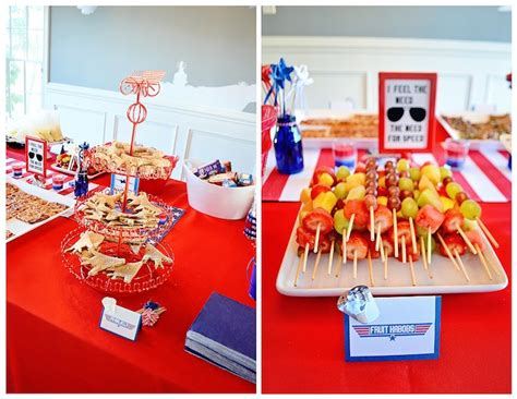 themed parties for november food from a top gun themed birthday party via kara s party