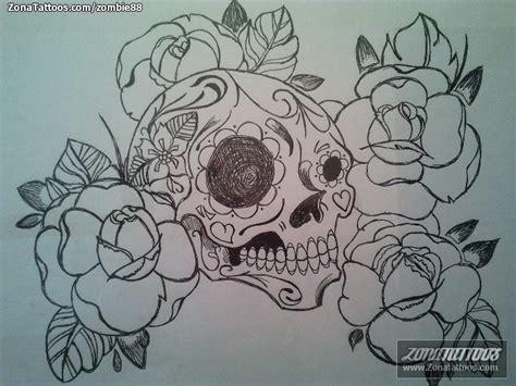 tatuajes de calaveras y rosas pin pin calavera y rosas mexicanas tatuajes fotos tattoos