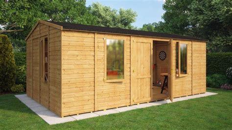 20x12 Shed by 20x12 Wooden Garden Shed Premium Heavy Duty T G Shiplap Workshop Outdoor Storage Ebay