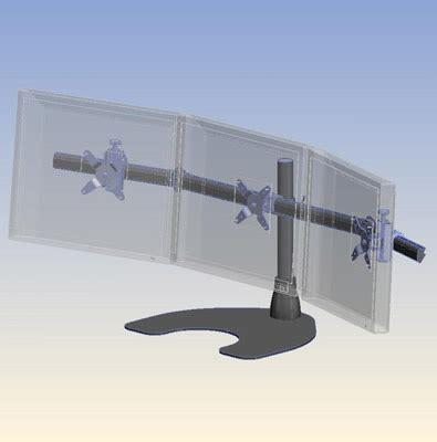Ergotech Desk by Ergotech Lcd Monitor Desk Stand 100 D16 B03