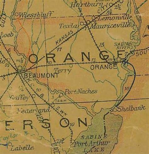 orange county texas map lemonville texas