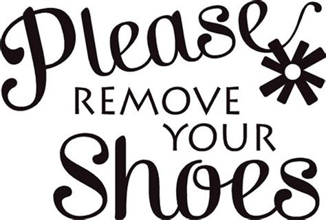 Boys Bedroom Designs quot please remove your shoes quot lettering decal sign quote
