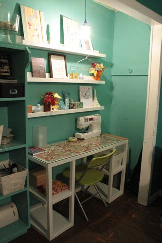 Closet Sewing Room by Bedroom Reach In Closet Turned Into A Sewing Room What A