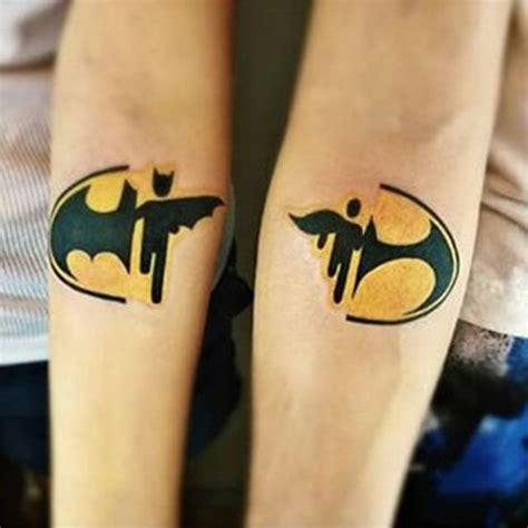 batman minimalist tattoo simple lower sleeve brother sister batman tattoo