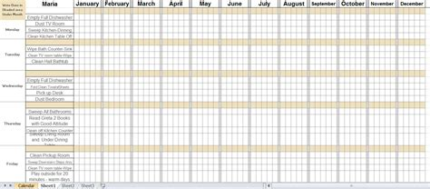 8 best images of chore chart chore chart template