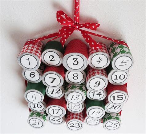 Adventskalender Aus Klopapierrollen by 25 Bastelideen Zu Weihnachten Aus Recycling Materialien