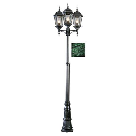solar l post light home depot gama sonic victorian series 3 head black integrated