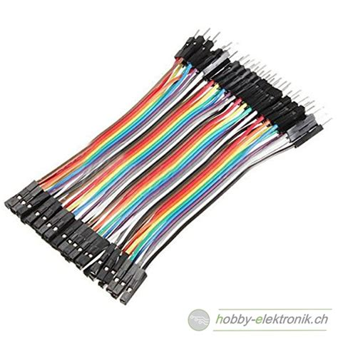 werkstatt verkabeln dupont kabel m f 10cm 20stk shop hobby