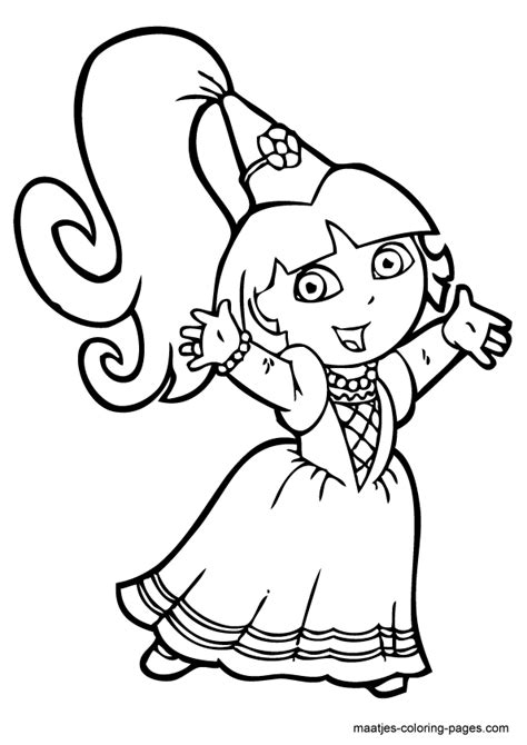 free coloring pictures dora explorer dora the explorer coloring pages