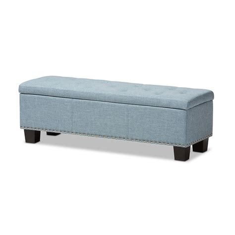 blue fabric ottoman baxton studio hannah modern and contemporary light blue