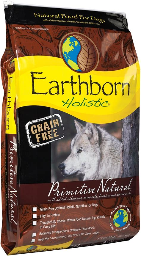 earthbound food earthborn holistic primitive grain free food 28 lb bag