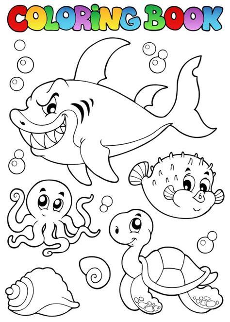 libro los animales marinos marine vinilo pixerstick colorear los animales marinos diversos libros 1 pixers 174 vivimos para cambiar