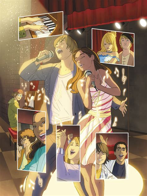 painting high school musical high school musical page 1 by cuccadesign on deviantart