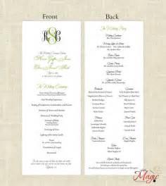 Homemade Wedding Programs Printable Diy Wedding Programs Simple But Elegant