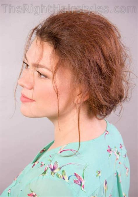 messy updos for fine hair how to messy updo for a round face