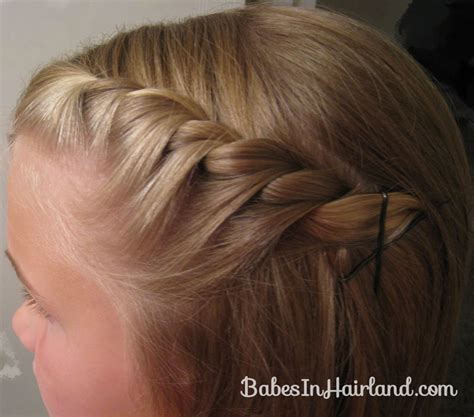 twist hair styles to cover bangs simple twisted bang pull back video babes in hairland