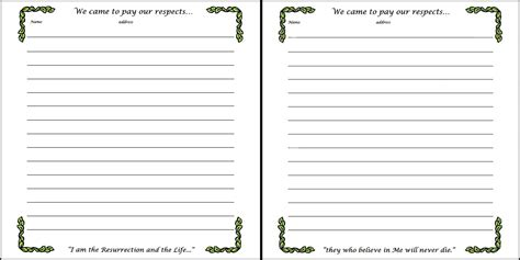 guest sign in book template best photos of guest sign in page printable 50th