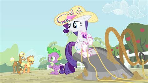my little pony spike and applejack image rarity and spike sees applejack and trenderhoof