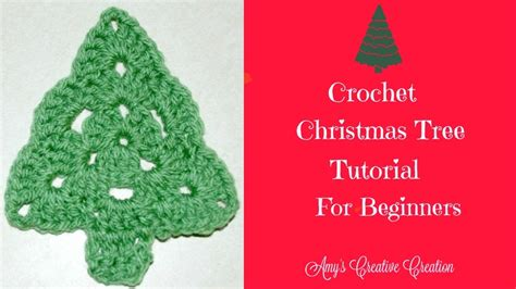 crochet christmas tree tutorial youtube