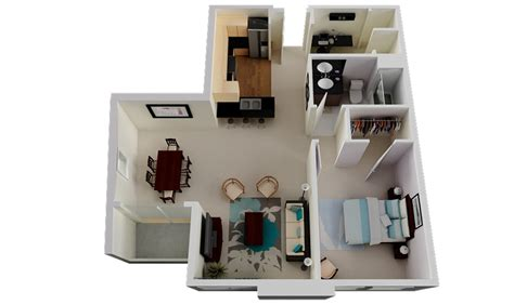 Village Builders Floor Plans by 50 One 1 Bedroom Apartment House Plans Architecture