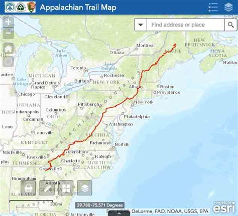 the appalachian trail map explore