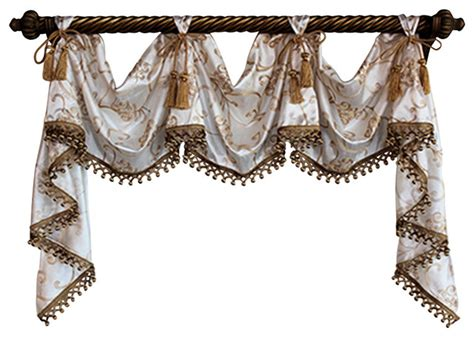 traditional curtains and valances shop houzz rlf home florence victory swag valances