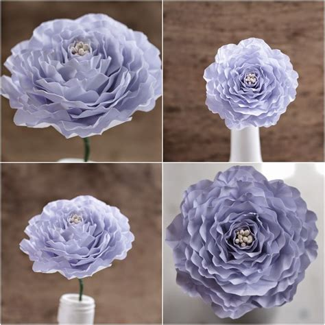 How To Make Recycled Paper Flowers - diy how to make a paper peony flower reduce reuse