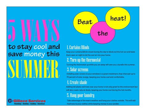 cool tips to steunk your home 5 ways to stay cool and save money this summer gillece