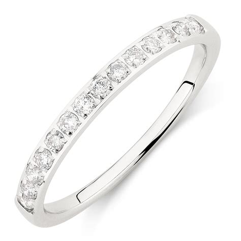 wedding band with 1 4 carat tw of diamonds in 14ct white gold
