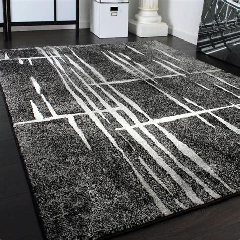 designer teppich modern trendiger kurzflor teppich in grau