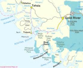 www maps canada columbia maps nootka sound bc map driving direction
