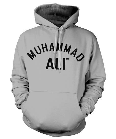 muhammad ali grey hoodie muhammad ali uk official