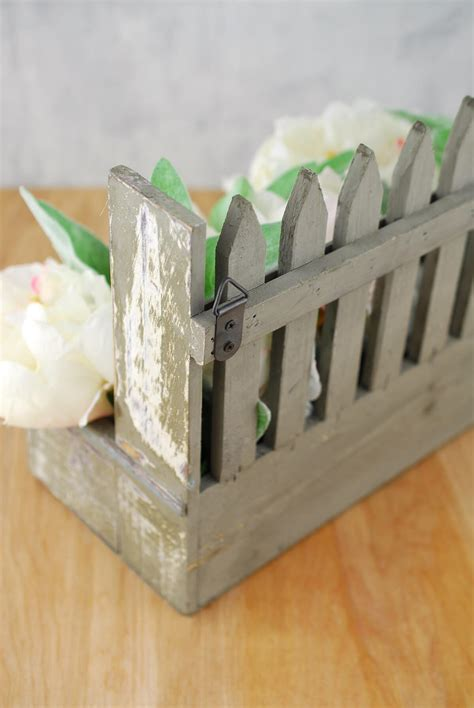 Picket Fence Planter by Wood Picket Fence 9x11 Planter Box