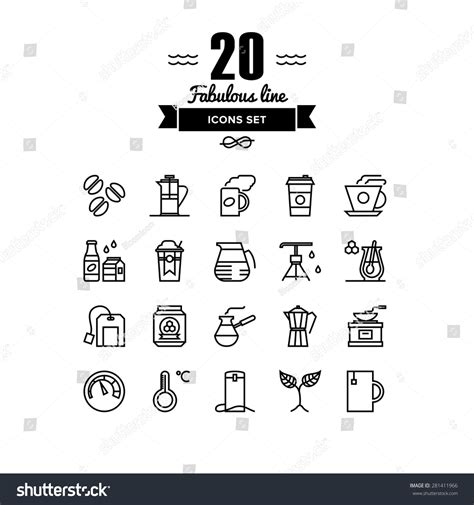 Process Of A Cup Of by Thin Lines Icons Set Of Coffee Preparation Process Cup Of