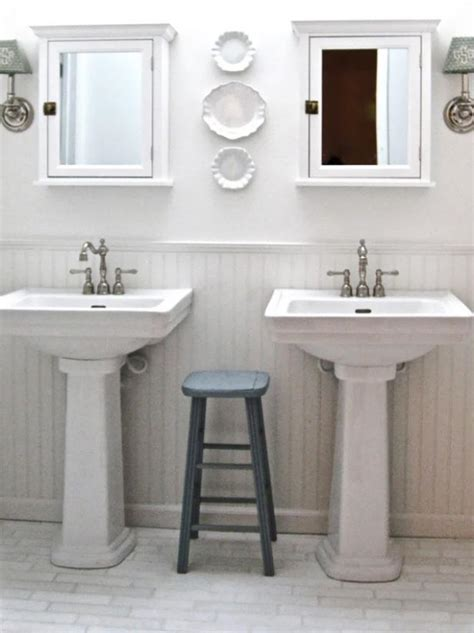 bathroom pedestal sinks ideas 2018 turn your before bathroom into an after hgtv