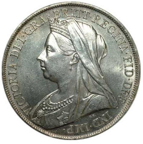 queen victoria old head crown 1899 lxiii