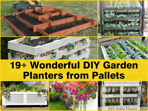 Garden Planters Diy by 19 Wonderful Diy Garden Planters From Pallets