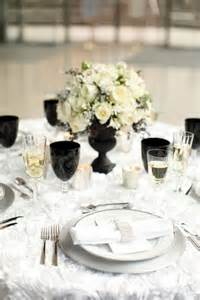 Black And White Table Setting 52 Elegant Black And White Wedding Table Settings Photo 40