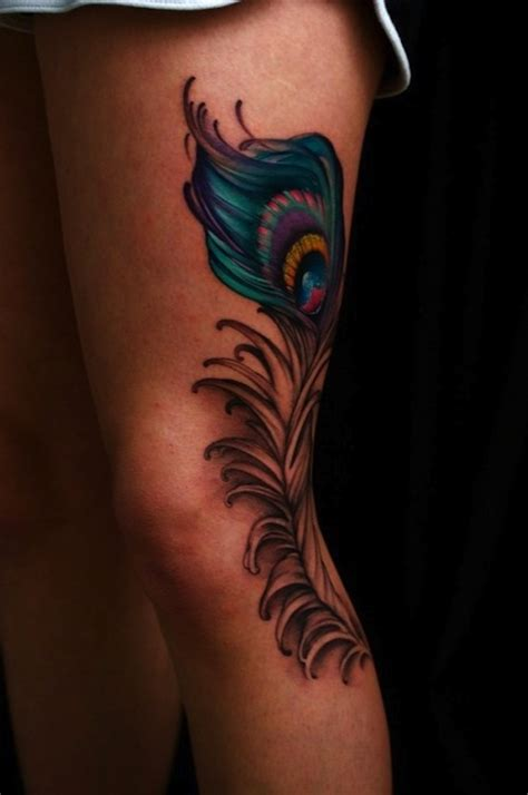 tattoo feather on leg 135 feather tattoos to make you fly