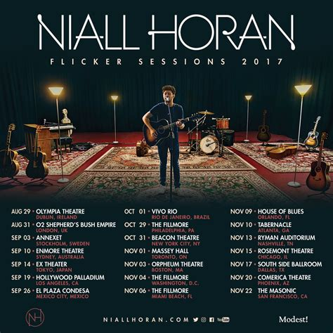 Tour Announced by Niall Horan Quot Flicker Sessions Quot Tour Announced