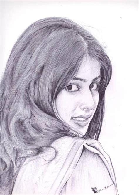 D Sketches by Genelia Pencil Sketches Genelia D Souza