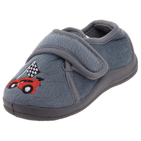 cars slippers for toddlers gray race car velcro slippers for toddler boys only 1 99