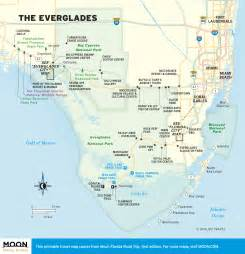 map of the everglades in florida the everglades in two days moon travel guides