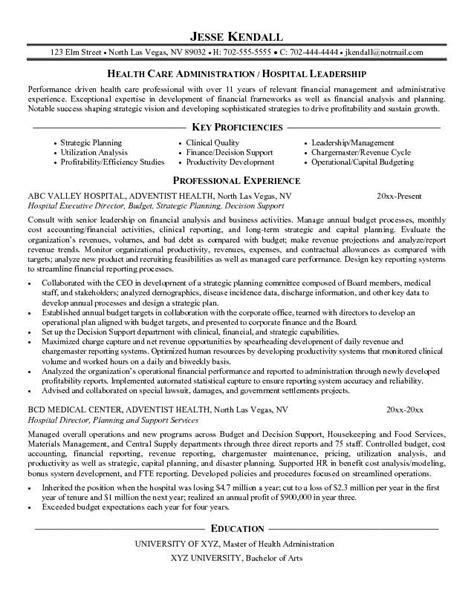hospital coo resume resume ideas