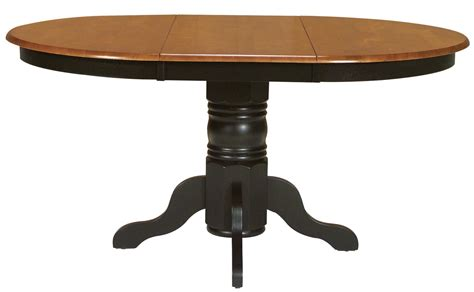 2 Pedestal Dining Table Dining Room Pieces Two Toned Oval Dining Table With Turned Pedestal Base By Whitewood Wolf