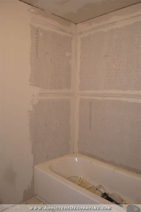 Bathroom Drywall Or Cement Board Customizing Stock Cabinets For A Bathroom Vanity Two