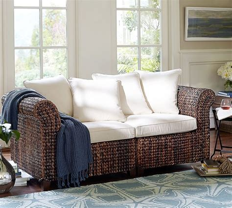 pottery barn seagrass sofa shopstyle home