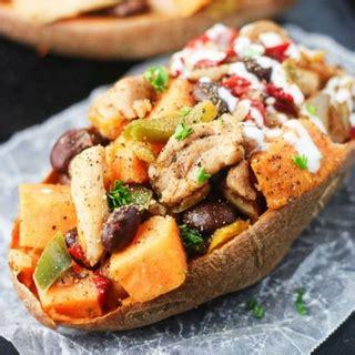 chicken fajita stuffed sweet potatoes blogger bests