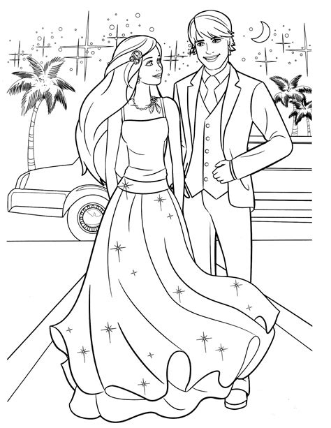 coloring pictures of barbie and ken barbie 50 coloringcolor com